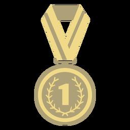 Premio medalla círculo primer plano