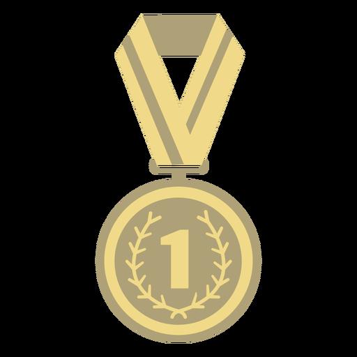 Award medal circle first flat