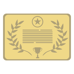 Award plaque star first flat