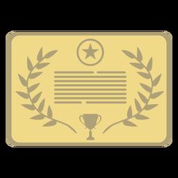 Estrela de placa prêmio primeiro plano