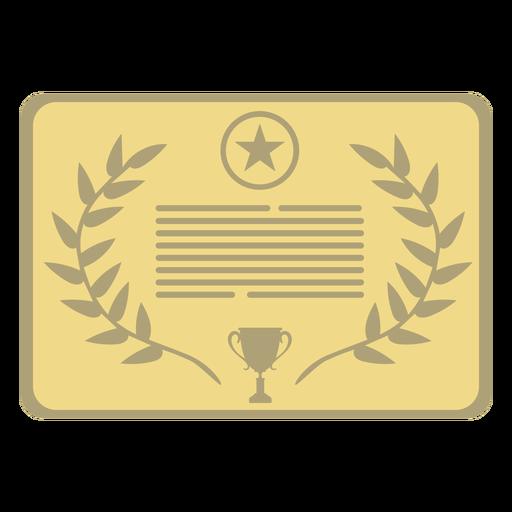 Award plaque star first flat