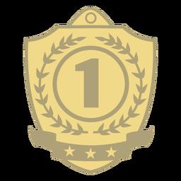 Premio escudo primer plano