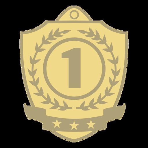 Prêmio escudo primeiro plano