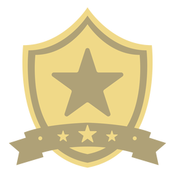 Award shield star first flat