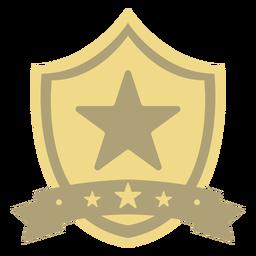 Prêmio escudo estrela primeiro plano