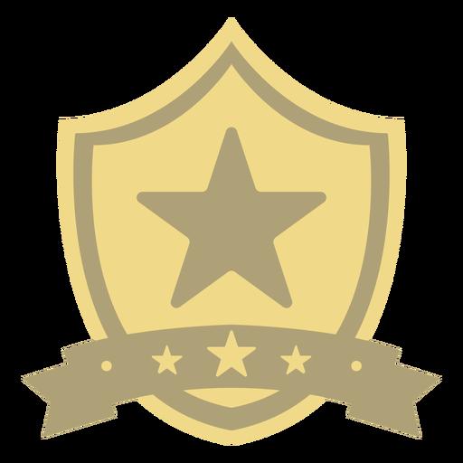 Award shield star first flat