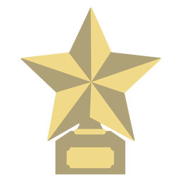 Award trophy star first flat