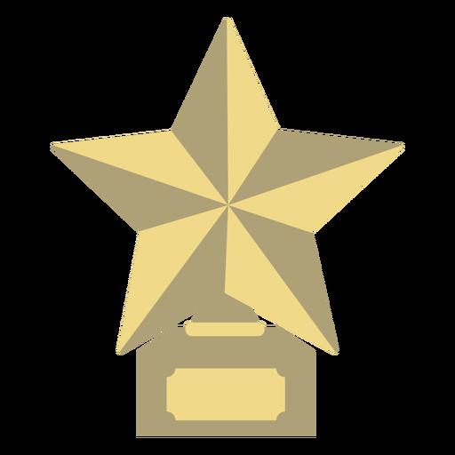 Prêmio estrela troféu primeiro plano