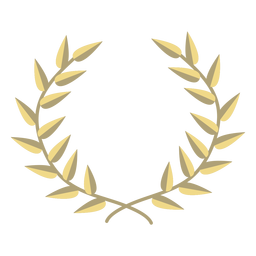 Award wreath flat