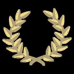 Award wreath flat