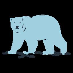 Ilustración del oso azul