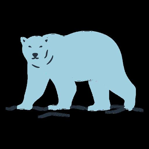 Ilustración de oso azul