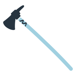 Blue doodle axe illustration