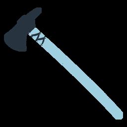 Ilustración de hacha azul doodle