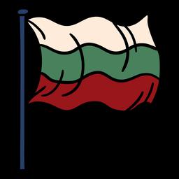 Dibujado a mano bandera de bulgaria