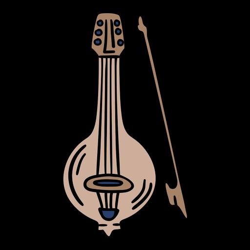 Bulgaria gadulka music hand drawn