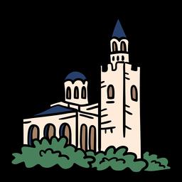 Iglesia catedral dibujado a mano