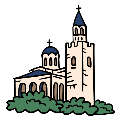 Church cathedral hand drawn Transparent PNG