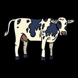 Dibujado a mano vaca