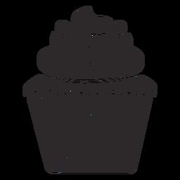 Cobertura do redemoinho dos doces do queque