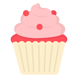 Cupcake candy swirl topping flat