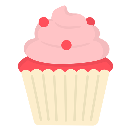 Cupcake candy swirl topping flat Transparent PNG