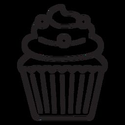 Golpe de relleno de remolino de cupcake candy
