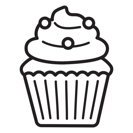 Cupcake candy swirl topping stroke Transparent PNG