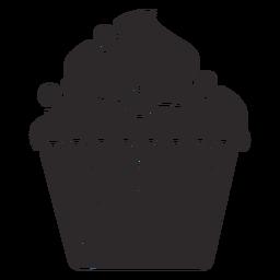 Cobertura de redemoinho de doces cupcake grande