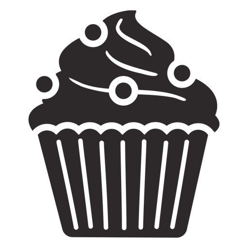 Cupcake candy swirl topping large Transparent PNG