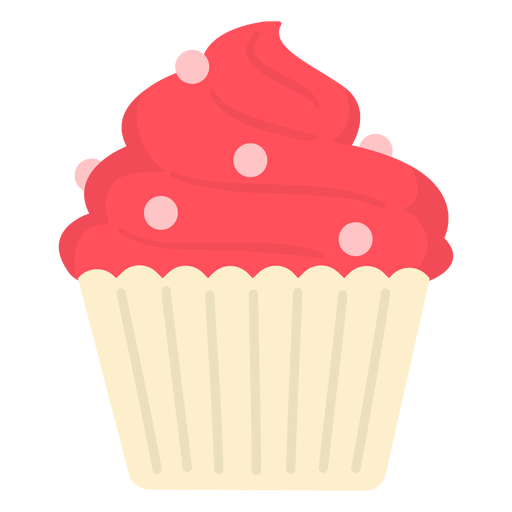 Cupcake candy swirl topping large flat Transparent PNG
