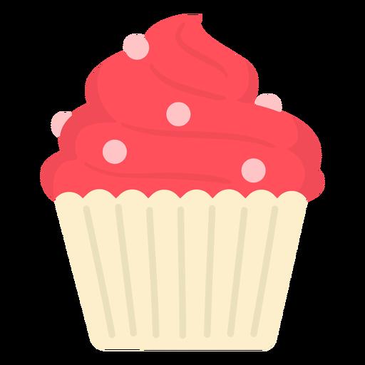 Cupcake dulce remolino coronando plano grande