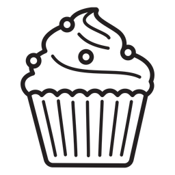 Cupcake candy swirl topping large stroke