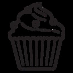 Cupcake dulce remolino con gran trazo