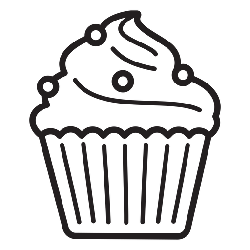 Cupcake candy swirl topping large stroke Transparent PNG
