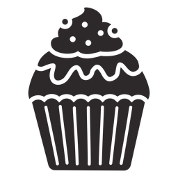 Cobertura de redemoinho de doces esmalte cupcake