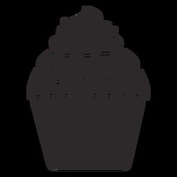Cupcake glaze candy swirl topping