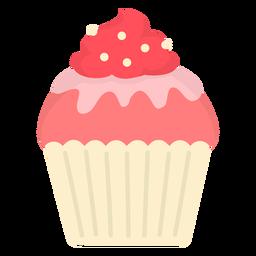 Cupcake glaze candy swirl topping flat