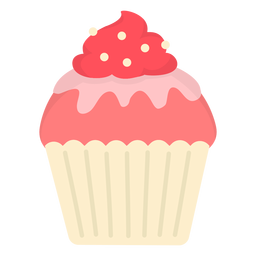 Esmalte de cupcake doce com cobertura plana