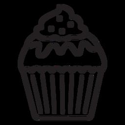 Cupcake glaze candy swirl topping stroke