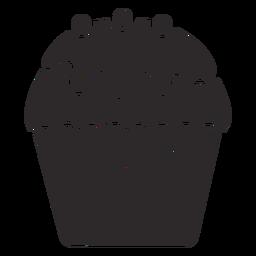 Cupcake glaseado dulce de cobertura