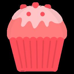 Cupcake glaze candy topping flat