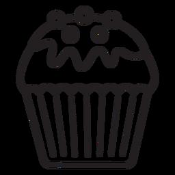 Cupcake Glasur Süßigkeiten Belag Strich