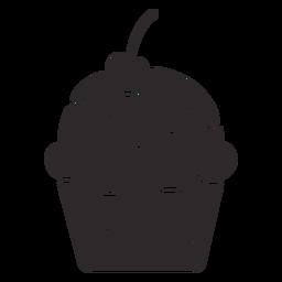 Cupcake Glasur Kirsche Belag