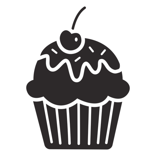 Cupcake glaze cherry topping Transparent PNG