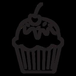 Cupcake Glasur Kirsche Belag Strich