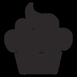 Cupcake streut schwarz