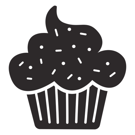 Cupcake sprinkles topping black