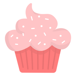 Cupcake streut flach