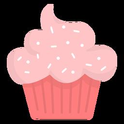 Cupcake streut Wolken flach